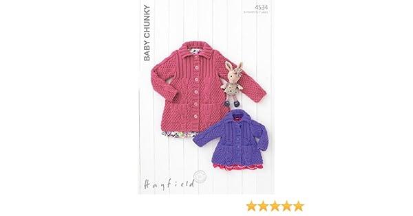 8048f2f349f3 Sirdar Hayfield Baby Chunky Knitting Pattern - 4534 Cardigans