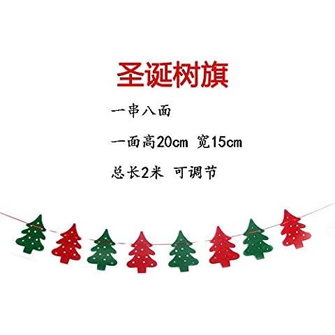 Le decorazioni di Natale Natale Natale banner bandiera albero di natale di tessuto non tessuto flag di pull - Vacanze Di Natale Banner Flag