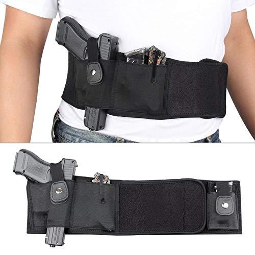 Gexgune Jagd Bauchband Neopren Pistolenhalfter Taille Verborgen Tragen Taktisch für Glock 19 Beretta Revolver