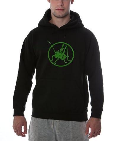 Dellawear Logo Heuschrecke dicker premium Hoody - schwarz