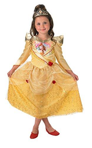 Rubie's Offizielles Belle-Kostüm, schimmernd, für Kinder–Größe: L