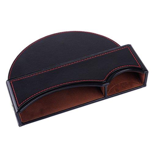 Preisvergleich Produktbild beler Schwarz PU-Leder Autositz Schlitz Tasche Box Handy Telefon Schlüssel Münze Seiten Organisator Halter