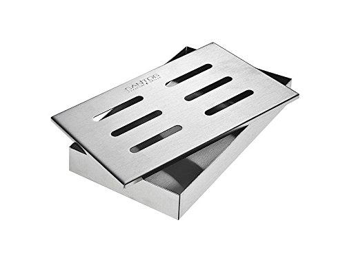 Santos Smokerbox Räucherbox Edelstahl Grillzubehör für Gasgrill, Kohlegrill und Kugelgrill...