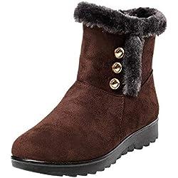 Botas Nieve Mujer Impermeable,ZARLLE Moda Calzado Mujer Invierno Zapatillas de Deporte de Mujeres Zapatos de Plataforma Botas Altas de Mujer cálidas Botas de Nieve Zapatos Interiores