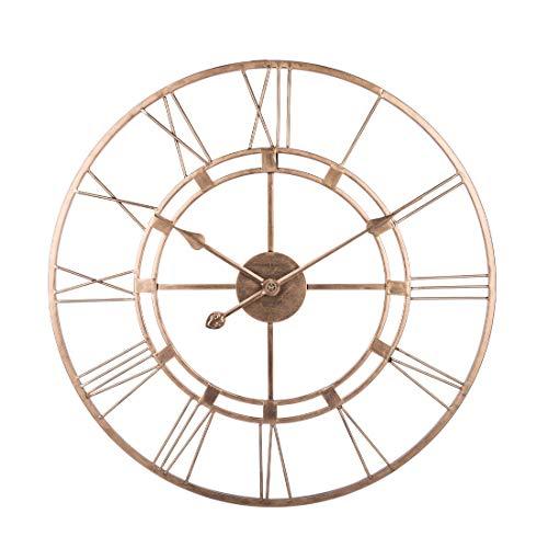 AMITAS Wanduhr Groß Wanduhr Vintage Metall Wanduhr Lautlos für Küche Wohnzimmer Schlafzimmer Golden 60 cm Ø - kein nerviges Ticken