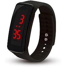 Relojes Digitales para niños, niñas, Hombres, Mujeres, LED Silicone Sport, Anillos