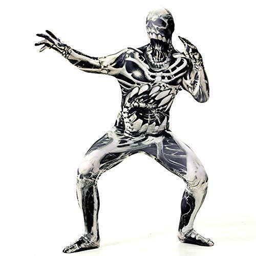 Erwachsene Kostüm Für Trauer - JH&MM Halloween-Kostüm Erwachsenen Horror Squat Engen Body All-Inclusive-Print Maskerade Leistung,L