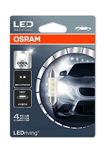 OSRAM LED Standard Retrofit SV8.5-8 41mm C5W Intérieur 6441CW-01B Cool White 12V Blister Individuel