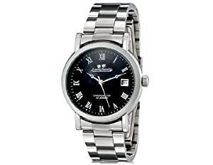 TR Luckyfamily G8009 Unisex Stylish Automatic Mechanical Watch with Stainless Steel Strap & Calendar (Black) M.