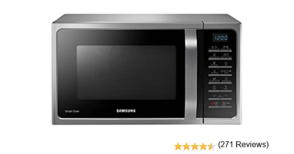 Samsung MC28H5015AS Forno a Microonde Combinato, 800 W, Grill 1500 W ...