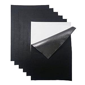YXJD 10 Blatt Selbstklebend Filz Bastelfilz Weich Vliesstoff Filzgleiter für DIY Handwerk Projekte Patchwork 20cm x 30cm x 1mm (Schwarz)