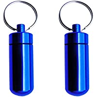 Baoblaze 2pcs-Pack Pillendose wasserdicht & luftdicht Outdoor Mini- Aufbewahrungsbox Pillenbox Aluminium Schlüsselanhänger preisvergleich bei billige-tabletten.eu