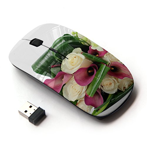 artech-optical-24g-wireless-mouse-roses-calla-lilies-freesia-leaves-flower-white-background-