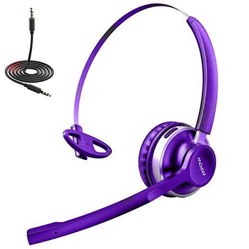 Mpow EG3 Pro Gaming Headset für PC, PS4, Xbox One,Größer 50MM Treiber Tiefer Bass, Over Ear Headset mit Noise Cancelling-Mikrofon,LED Gaming Kopfhörer für Computer, Playstation 4, Xbox, Nintendo