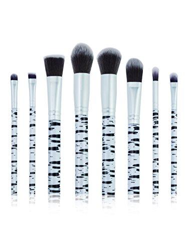 Make Up Brosses Start Makers Professionnel 8 Pièces Style Unique Marbre Maquillage Brosses Set Cosmétique Fondation Brosse Poudre Brosse à Paupières Brosses Avec Marque