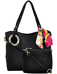 Mark & Keith Black Combo Handbag(MBG 0486 BK)