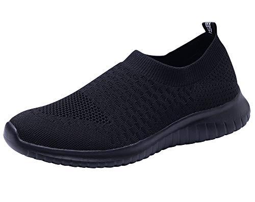 TIOSEBON HK6701, Damen Laufschuhe, Alles schwarz - Größe: 44 EU Label Size Asian 44