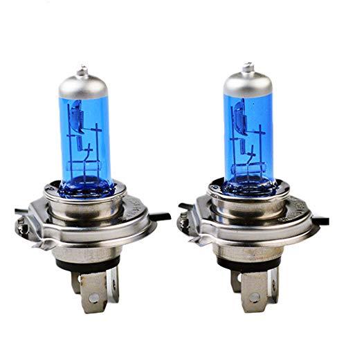 H4 Halogen 12V 60 / 55W 5000K Auto Halogen Xenon Dunkelblau Glas Ultra Weiß (2 STÜCKE)