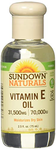Sundown pure vitamin E oil, 70,000 iu for skin - 2.5 oz