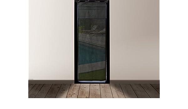 Gris Soleil docre Voile pour Porte fen/être Coton 200x70 cm