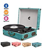 Best Portable Record Players - Wockoder Turntable Bluetooth Record Vinyl Player Portable Bluetooth Review