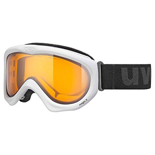 Uvex - Maschera da sci, colore: white / goldlite S1