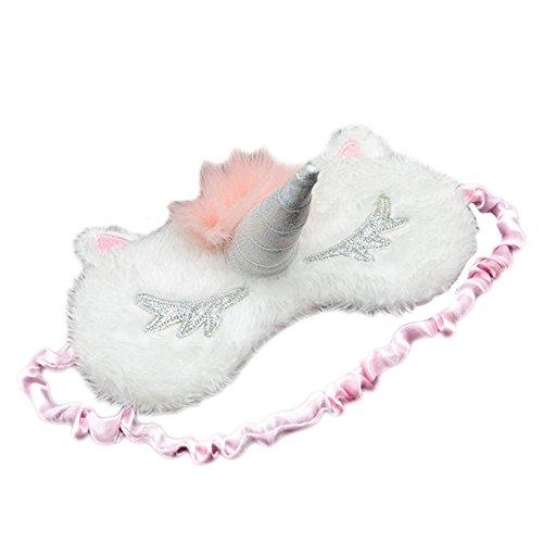Originaltree Süße Schlafmaske in Einhornoptik mit Horn, rose, Einheitsgröße