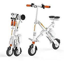 "Run & Roll Bike X Bicicleta Eléctrica Plegable, Hombre, Blanco, 8"""