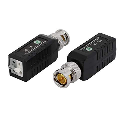 ZCHXD 2 Pcs ABS CCTV Passive Video Balun UTP BNC Transceiver Adapter Aktive Utp Video