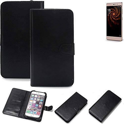 K-S-Trade 360° Wallet Case Handyhülle für Allview X3 Soul Style Schutz Hülle Smartphone Flip Cover Flipstyle Tasche Schutzhülle Flipcover Slim Bumper schwarz, 1x