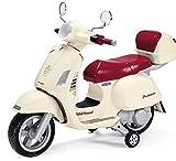 Peg Perego VESPA Elektro 12V Kinder Motorrad Moped mit Helm