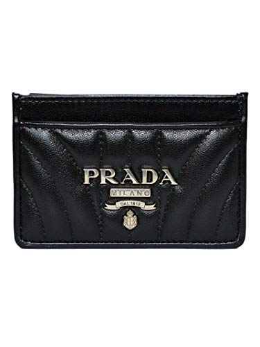 Prada luxury fashion donna 1mc2082b0xf0002 nero portacarte | autunno inverno 19