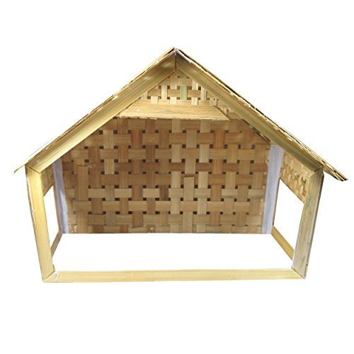 Salvus App SOLUTIONS Foldable Christmas Decoration Bamboo House Big Size-23x29x13...