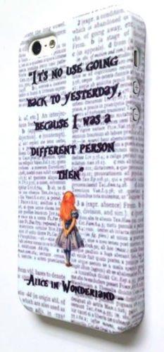 Pour iPhone 6/5S/, 6S, plus, 5, se, Alice au Pays des Merveilles Dictionnaire Print Case, plastique, iPhone 5 5S SE