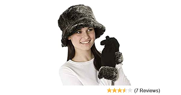 95141f7ce6e Socks Uwear New Ladies Faux Fur Chilton Reversible Hat-Glove Winter Set  Black  Amazon.co.uk  Sports   Outdoors