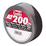 Adam Hall 5805BLK Rouleau Gaffer 50 mm x 50 m Noir Mat