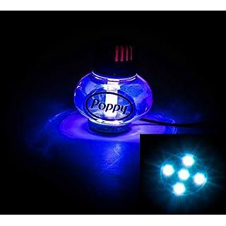 Lufterfrischer Poppy mit LED Multicolor-Beleuchtung, 7 Farben, schaltbar, 10-30V, Inhalt 150 ml, lieferbar in 7 Duftnoten (Lavendel)