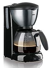 Braun KF 570/1 Libera installazione Semi-automatica Macchina da caffè con filtro 10tazze Nero, Acciaio inossidabile macchina per caffè