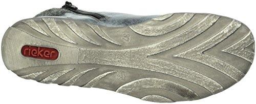Rieker L6540, Sneakers Hautes Femme Bleu (Ozean/granit/schwarz)
