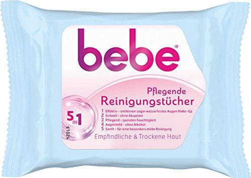 6x bebe - Pflegende Reinigungstücher 5in1