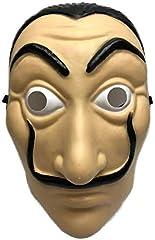 Idea Regalo - Shop Due Mari Maschera Carnevale Salvador Dalì in PVC Alta Qualità, La Casa De Papel, La Casa di Carta, Dalì Mask