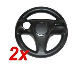 2 Stück Lenkrad SCHWARZ Wheel für Wii Remote Mario Kart - RBrothersTechnologie