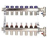 Polypipe UFH12757 7 Steckverbinder, 15 mm, Edelstahl