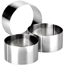 Ibili 716050 Lot de 3 emporte-pièces : 7+8+10 cm en Inox