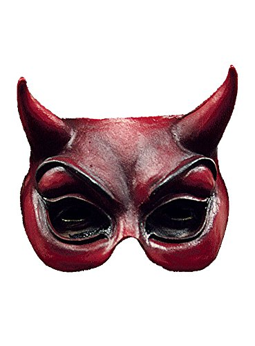 arty Kostüm Mephisto Halbmaske aus Latex für Erwachsene (Charakter Verkleiden Für Partys)