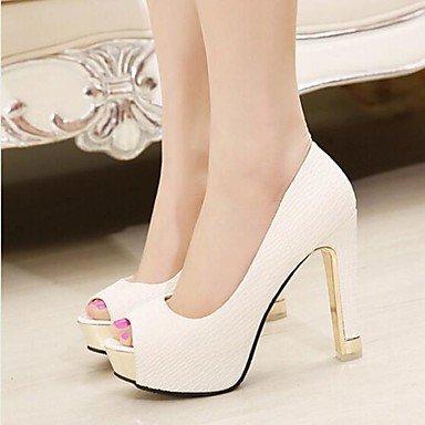 SANMULYH Scarpe Donna Pu Primavera Cadono Comfort Sandali Di Abbigliamento  Casual Bianco Nero Bianco