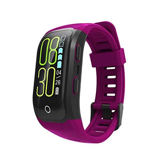 UNIQUE-F Smartwatch Wasserdicht Farbbildschirm Fitness-Tracker Puls Monitor Blutdruck Kalorie Zähler IOS Android Purple