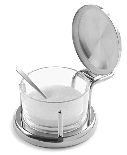 Salz Keller Glas Spice Container mit Edelstahl Deckel und Löffel für sicheren Langlebig Speicherung und Organisation für, Gewürze, Gewürze & Kräuter-Moderne Innovationen Keller Serveware