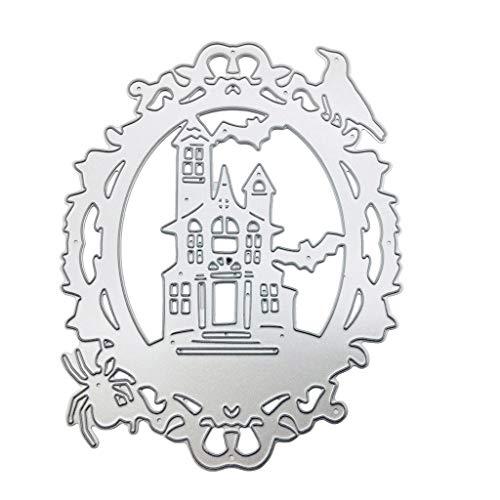CADANIA Schloss Metall Stanzformen Schablone DIY Scrapbooking Album Stempel Papier Karte Präge Craft Decor