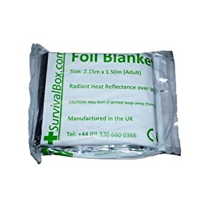 41Nj9a7SxBL. SS300  - Foil Blanket (Adult) Pack of 5 FREE DELIVERY